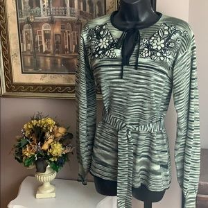 Vitg 70's Tunic Belted Sweater by Knitalia Sz M